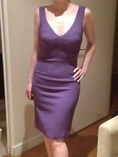 stunning purple knee length, sleeveless dolce and gabbana dress