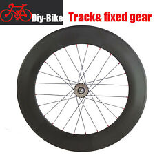 700C 88mm Clincher Carbon Rear Wheels Track fixed gear single speed Wheels