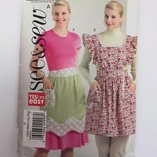 Butterick B4838 Womens Apron Full Half Ruffled Bib Pattern Sz S-XL Uncut