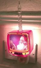 REtro Vintage Santa TV Bubble Bubbling Christmas Night Light Holiday Claus