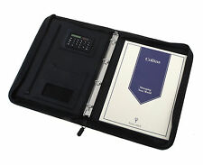 Collins A4 Conference Folder Executive Portfolio Black Zip Ring Binder Clearanc!