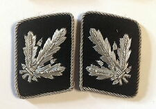 WW2 German Waffen elite  Brigadefuhrer Collar Tabs ON Black background