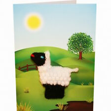 Sheep Hand Knitted Puppet Greeting card
