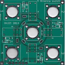 4:1 remote antenna switch bare PCB DIY cheap SO-239