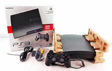 PS3 Konsole Slim schwarz 320GB + original Controller + OVP / Playstation 3