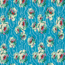 Amy Butler Hapi Collection Flowing Buds Fabric in Turquoise PWAB119 100% Cotton