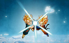 Poster A3 Dragon Ball Trunks Goten Super Saiyan 01