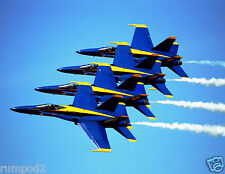 Blue Angels/Stunt/Precision Flying/Airplane Poster/Military Fighter Jets 17x22in