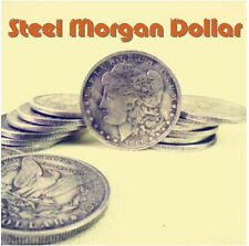 Set 10 Steel Morgan Dollar Replica (3.8cm) Magic Trick Coins Magic Accessories