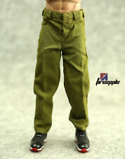 "*1/6 Scale Soldier Accessories Army Green Casual Pants For 12"" Doll Figure"