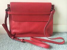 TRENERY Red Leather Envelope Bag BNWOT