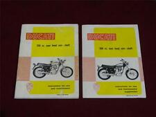 Ducati 250cc instructions and service booklet, 350cc use and service supplement