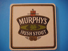 Beer Brewery Coaster ~*~ MURPHY'S Smooth, Irish Stout <> Cork, IRELAND Est. 1856