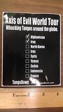Tango Down Axis of Evil World Tour OEM/Original Decal / Sticker Vinyl Quality