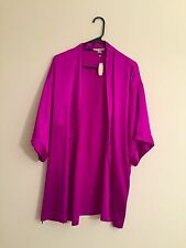 Victorias Secret Sexy Satin Purple Robe Kimono Spa Wrap Size Small/Medium