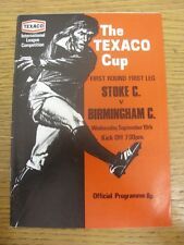 19/09/1973 Stoke City v Birmingham City [Texaco Cup] . Trusted sellers on ebay b