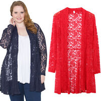 Plus Size Women Outwear Boho Long Sleeve Knitted Cardigans Casual Loose Coat Top