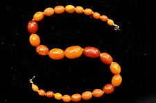 Antique +100 Years Old Butterscotch Amber Necklace 27.30 grams -- 15.5""