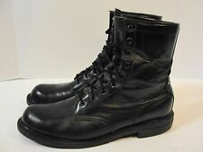 "Chippewa 8""  Black Service Round Toe Boots - Men's 10 D Uniform Military Work"