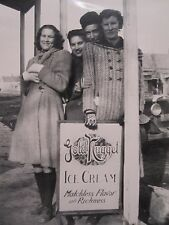 ANTIQUE DOUBLE SIDED GOLD NUGGET ICE CREAM PORCELAIN SIGN EAST COAST OLD PHOTO