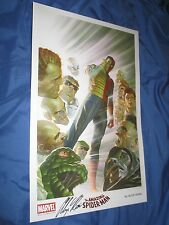 ALEX ROSS SDCC Exclusive Signed Art Print AMAZING SPIDERMAN Mary Jane ~2015