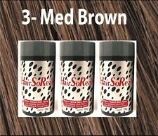 HSR HairSoReal HAIR LOSS CONCEALER Fibers MEDIUM BROWN 3 Pack SAME DAY SHIPSFREE