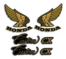 HONDA 1983 '83 CX650 CX 650 CUSTOM TANK AND REAR FENDER SIDE DECALS GRAPHICS SET