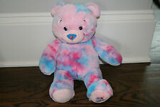 "Build a Bear 16"" Baskin Robbins Bubble Gum Ice Cream Teddy Pink Blue Cherry EUC!"
