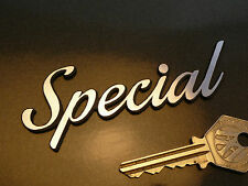 "SPECIAL Script Self Adhesive Car or Bike BADGE 4"" Classic Racing Sports Model"