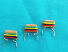 3 x 0.15uf Mullard C280 Metallised Polyester ( Tropical Fish) Capacitors