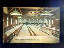 c.1910 Bowling Alley Interior Rhodes on the Pawtuxet RI post card