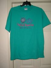 New Mall Of America T-Shirt Hanes Beefy-T Adult XL Teal Pink Purple Flowers Star