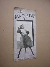 circa 1938. ALA DI STURA (ITALY) ALPINE TRAVEL BROCHURE. ILLUSTRATED