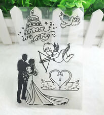 Lovers Silicone Rubber Clear Stamp Seal Scrapbooking Diary Christmas Card