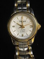 Tissot 1853 Seastar Automatic 25 Jewels A630/730K Two Tone Watch! RunsGreat!
