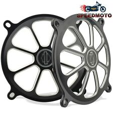 "5"" Speaker Grills Cover For Harley Touring GLIDE Black Motorcycle parts CNC New"