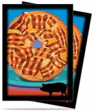 50 DECK PROTECTORS Novelty Food Bacon Donut MTG MAGIC Ultra Pro