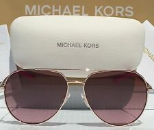 NEW MICHAEL KORS AVIATOR ROSE GOLD 58mm MK5009 Rodinara Grad Women's Sunglasses