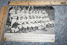 1941 BROOKLYN DODGERS NATIONAL LEAGUE PENNANT TEAM PHOTO FROM BASEBALL MAGAZINE