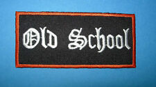 `OLD SCHOOL` SEW OR IRON ON PATCH