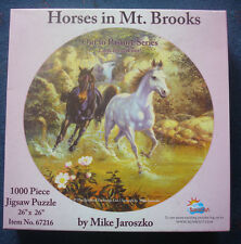 jigsaw puzzle 1000 pc Mike Jaroszko Horses in Mt Brooks Out to Pasture SunsOut