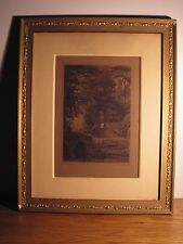 Antique 1880  Axel Herman Haig Framed Etching