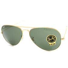 Ray Ban RB3025 001 Aviator Classic Sunglasses Gold/Green Size 62 Large