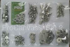Marine Fasteners COMPLETE Kit Stainless Steel -Snap,Common Sense,Tenax,Screws...