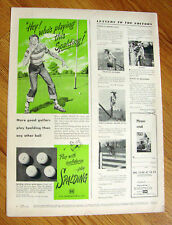 1949 Spalding Golf Ball Ad  Hey Who's Playing