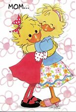 Suzy's Zoo Mother's Day Greeting Card - Suzy Ducken and Lizzie Hug