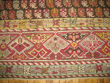 Antique Decorative Turkish Oushak Ushak Ghiordes Rug Size 12'10''x16'8''
