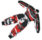KIDS RED CAMO WULFSPORT RACE SUIT OVERALLS MOTOCROSS GO-KARTING LT PW CHILD WULF