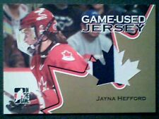 JAYNA HEFFORD 06/07 AUTHENTIC 2-COLOR PIECE OF A GAME-USED JERSEY