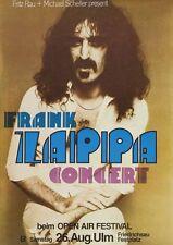 Frank Zappa Friedrichsau Concert Repro POSTER